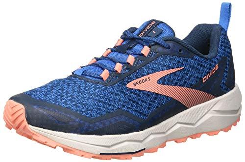 Brooks Divide, Zapatillas para Correr para Mujer, Azul/Flor del Desierto/Gris, 40.5 EU