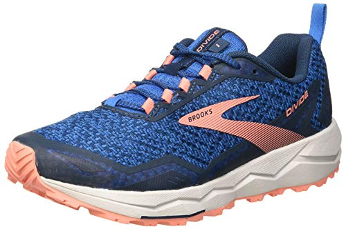 Brooks Divide, Zapatillas para Correr Mujer, Blue Desert Flower Grey, 35.5 EU