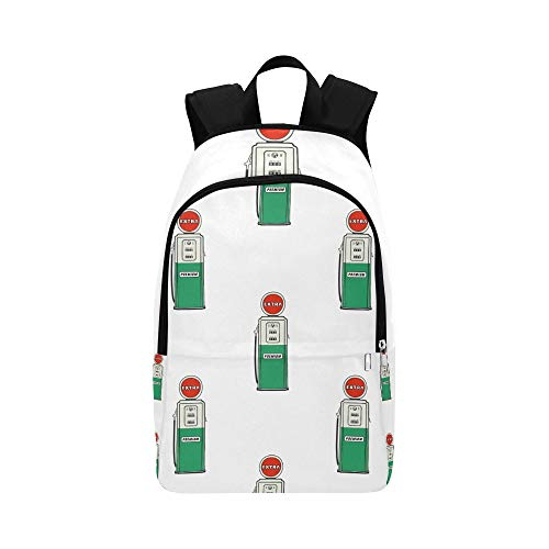 NANA Best College Bags Retro Old Graphic Gas Station Grunge Durable Water Resistant Classic Clear Travel Toiletry Bag Small Hiking Backpack Travel Bag Sport School Bag for Boys