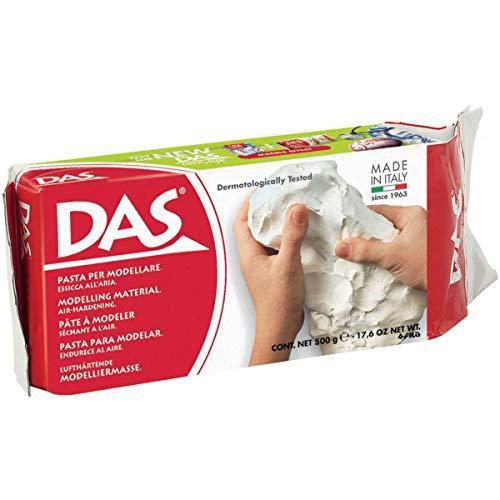 DAS 387000 - Pasta para modelar sin gluten, secado al aire, pastilla 500 g, color blanco