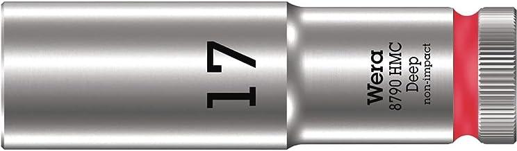 """Wera 05004557001 8790 HMC Deep klucz nasadowy 1/2"""", czerwony, 17,0 mm"""