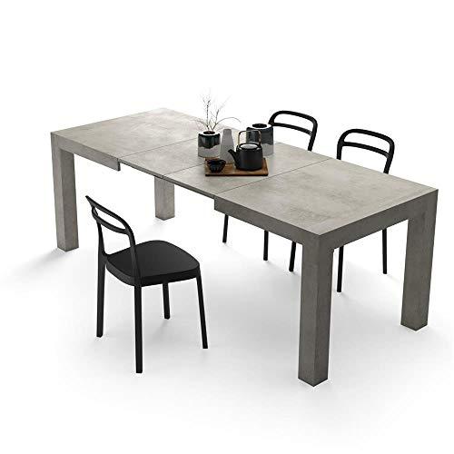 Mobili Fiver, Mesa de Cocina Extensible, Modelo Iacopo, Color Cemento, 140 x 90 x 77 cm