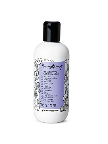 No Nothing Very Sensitive Shampoo - 100% Vegan, Hypoallergenic, Fragrance Free, Paraben Free – 10.15 oz (Volume Shampoo)
