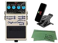 BOSS ボス - エフェクター デジタルディレイ DD-8 + KORG Pitchclip 2 PC-2 + マークスオリジナルクロス セット