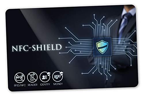 Original NFC-Shield Card (RFID Blocker) - 2. Generation: Ultradünn (0,56 mm), HF (~13,56MHz) und NF (~125 kHz), Schutz bei Anti-Collision, 100% Schutz ohne Störsender, Made in Germany
