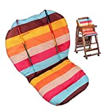 Twoworld Baby High Chair Seat Cushion Liner Mat Pad Cover Rainbow Striped Water Resistant