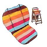 Ywoworld - Funda de cojín para silla alta para bebé, resistente al agua y a rayas arcoíris