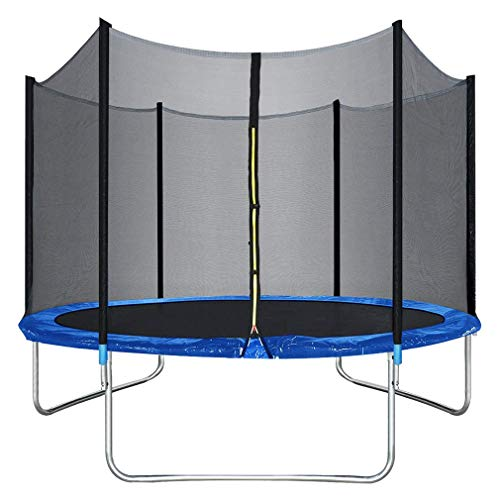 10 Ft Trampoline with Enclosure Net Outdoor Fitness Trampoline PVC Spring Cover Padding for Children and Adults