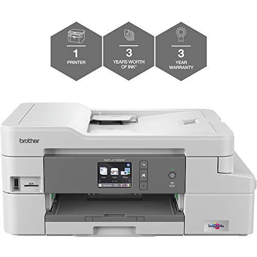 Brother Stampante Inkjet (Wireless E Pc Connesso, Stampa, Copia, Scansione E 2 Stampa Fronte Retro, Vale La Pena di Stampa Fino A 3 Anni)