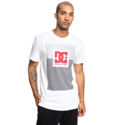 DC Shoes Pill Resident T-Shirt Homme, Neige Blanc, FR : S (Taille Fabricant : Small)