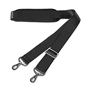 MOSISO 56 Inch Shoulder Strap, Adjustable Thick Soft Universal Replacement Non-Slip Comfort Fit Padded with Metal Swivel Hooks for Laptop Messenger Crossbody Bag Luggage/Duffel/Camera, Black
