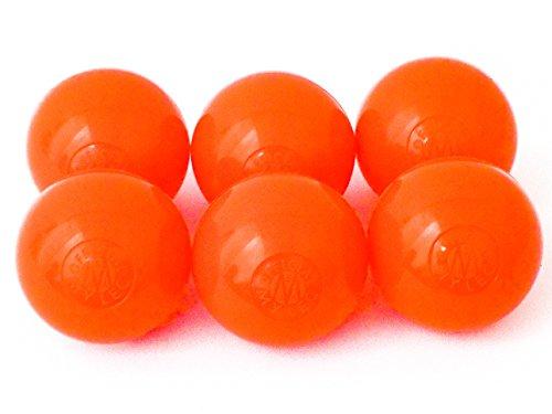 Mylec Warm Weather Hockey Balls, (Pack of 6) ORANGE
