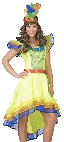 Das Kostümland Brasilianerin Leticia Kostüm für Damen Gr. 40 42