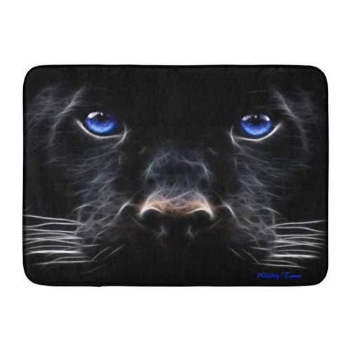 Yaoni Alfombrilla de baño Azul Blanco Pantera Negra Ojo de Jaguar Chispa...