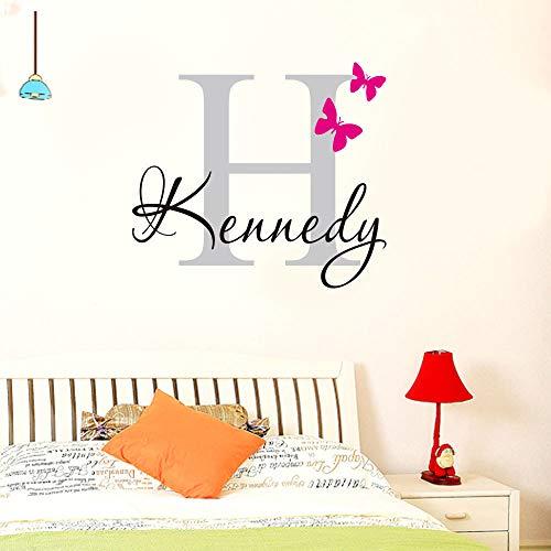 JXFM Vlinder persoonlijkheid mode Engelse naam kinderslaapkamer woonkamer raam kantoor 50 * 60 cm