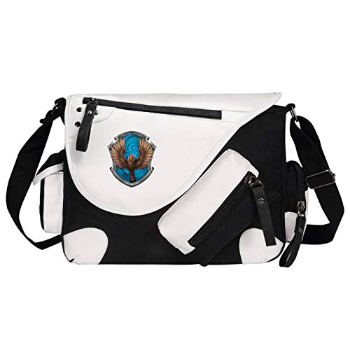 Boys Shoulder Bag Ravenclaw College School Bag Hogwarts Cartoon Messenger Bag 35x26x11cm Black