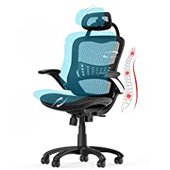 【Perfect ergonomic design can help you improve your sitting posture】 This ergonomic office chair's backrest imitate the shape of the human spine. The backrest can improve your posture to keep your spine aligned with the backrest and support your back...