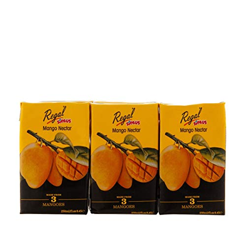 Regal Bakery Mango Tetra Juice 250ml - Summer Drinks,Drinks On The Go - Healthy & Nutritious - Ready to Sip Juices
