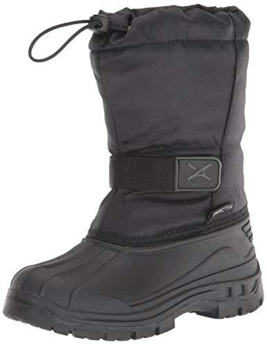 Arctix Kids Powder Winter Boot, Black, 8 Toddler