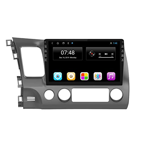 Amimilili 10.1 Inch 2Din Android 8.1 Car Radio Multimedia Player For Honda Civic 2006-2011 Navigation GPS FM/Bluetooth/Steering Wheel Control/Mirror Link,8 cores 4G+WIFI:2+32G