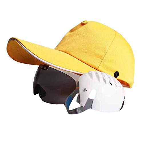 WXJ Leichte Sicherheit Schutzhelm Kopfschutz Baseball Bump Cap ABS Anti-Smashing Innenschale Mode Verstellbare Sonnenbrille Site Construction