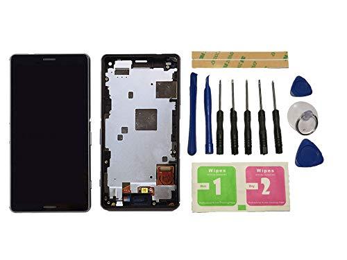 Flügel para Sony Xperia Z3 Compact Mini D5803 D5833 Pantalla LCD Pantalla Negro Táctil digitalizador Completo Pantalla (con Marco) de Recambio & Herramientas