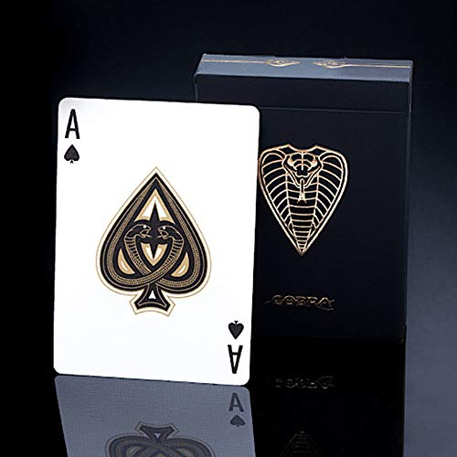 SYNCSPIKE Cobra Black Edition Playing Cards & Clear Protective Playing Cards Case, A Premium Deck for Card Game, Migicians, Cardistry