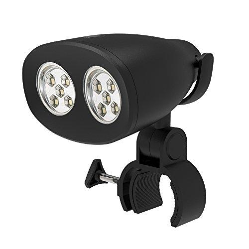 LightsGoal - Luce a LED per barbecue, impermeabile, con sensore touch, per barbecue, colore nero, con clip per barbecue all'aperto, campeggio, rotazione a 360°, 2 livelli di luminosità