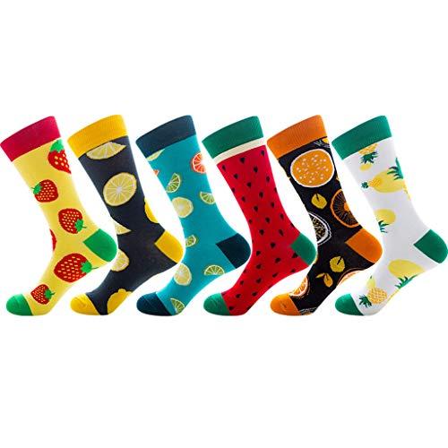 Museourstyty Socken Bunt Gemusterte Freizeit Hochwertigen Baumwollsocken Frucht Zitronen Skateboard Strumpfwaren