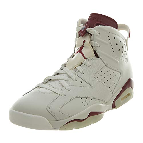 Nike Herren Air Jordan 6 Retro Turnschuhe, Blanco/Rojo (Off White/New Maroon), 42 1/2 EU