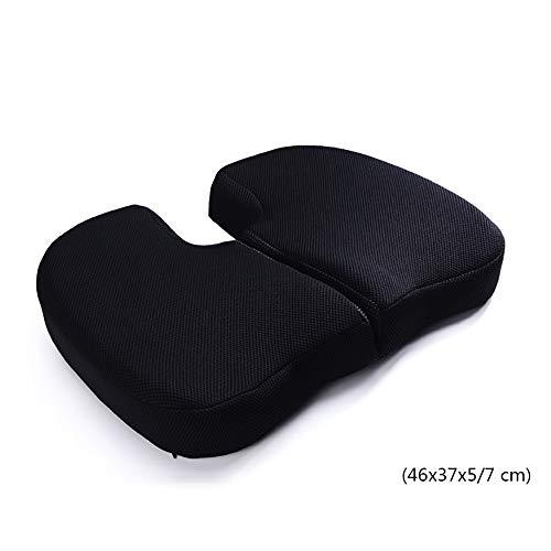 LANGYINH Travel Orthopedisch Kussen Memory Foam Seat Pad, Verbetert houding & Staartbeen en Sciatica Relief - voor kantoor, Auto, Rolstoel, Vliegtuig