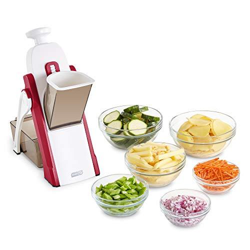 DASH Safe Slice Mandoline for Vegetables, Meal Prep & More with Thickness Adjuster, Red