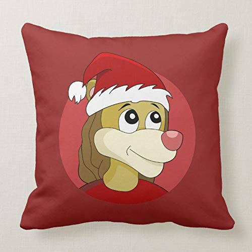 McC538arthy Christmas Pillow Covers 18x18 Inches, Lion Holding A Soccer Ball Cartoon Farmhouse Cushion Cover Throw Pillow Cases Home Decoration for Couch Sofa Car