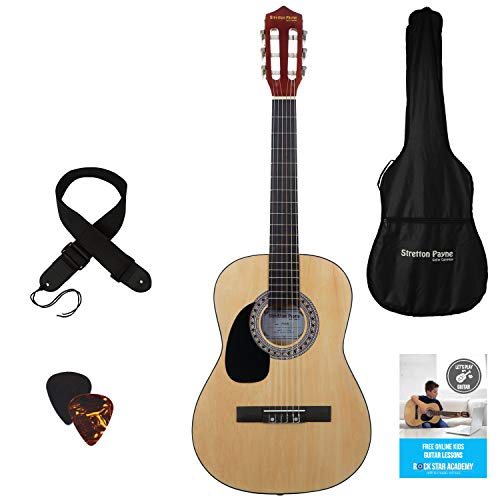 Childrens Nylon String Acoustic Guitar - Left Handed 3/4 Sized - 36 inch -...