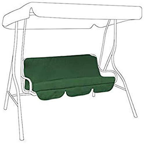 Coprisedile di ricambio per seduta dondolo a 3 posti, 150 x 150 x 10 cm, rivestimento antipolvere e impermeabile verde