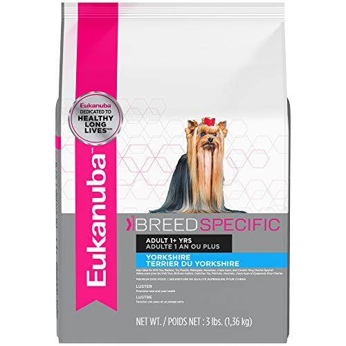 EUKANUBA Breed Specific Adult Yorkshire Terrier Dog Food 3 Pounds