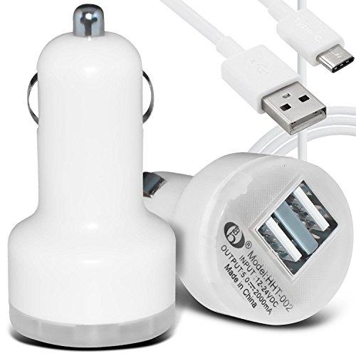 Gadget Giant autolader voor Huawei P9, ultracompact, met 2 USB-poorten, incl. 1 USB-datakabel/synchronisatiekabel