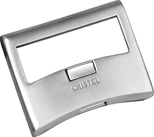 Cristel Strate Amovible Flachgriff, Edelstahl, 7.5x6x1 cm