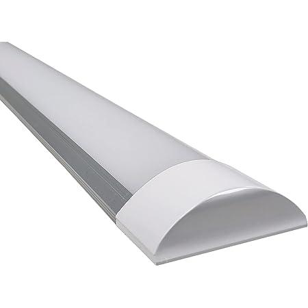 Luminaire 60cm, 20w. Couleur blanc neutre (4500K). Tube led intégré T8. 1700 lumens. Bande led mince.