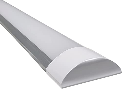 Luminaria Lampara de techo LED 120cm. 40w. Color Blanco Frio (6500K). 4000 Lumenes. Tubo LED 120cm T8 Integrado. (120cm)