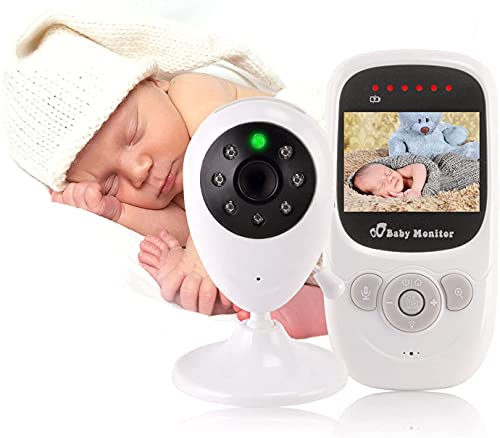 Monitor De Bebé, Video con Cámara, Visión Nocturna, Transmisión Inalámbrica De 2.4 GHz. Pantalla HD De 2,4 Pulgadas, Audio De Dos Vías, Música De Música De Dos Vías, Rotación De 360 ° De La Cámara