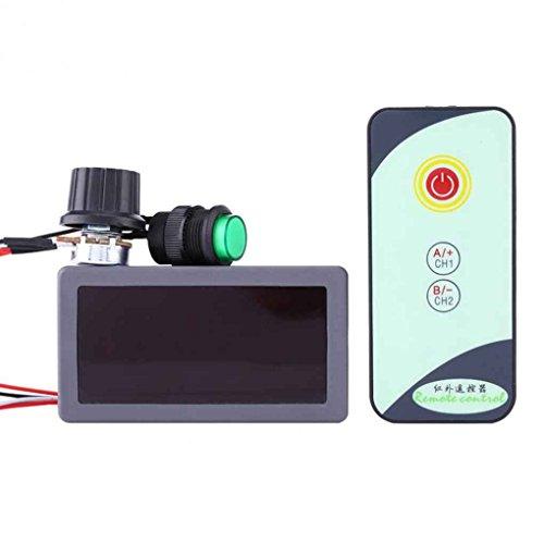 forbestest Control de regulador del regulador de 6V 12V 24V DC PWM de Velocidad del Motor Interruptor de la Pantalla Digital con Mando a Distancia