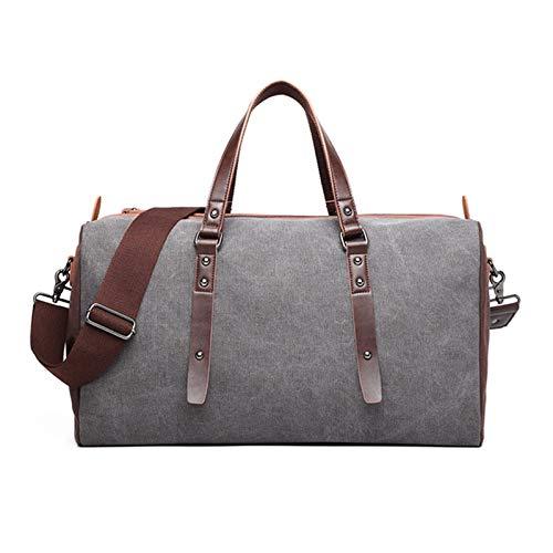 NEHARO Viajes Duffel Tote Bag Bolsa de Lona de Doble Uso de un Hombro portátil para Llevar con Usted la Bolsa de Viaje de los Hombres Retro Duradero (Negro) para Hombre y Mujer