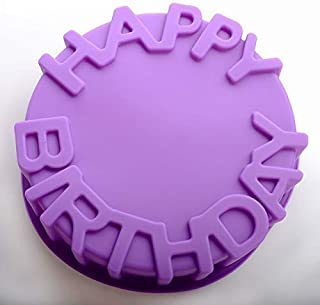 Swabs® Silicone Cake Mold Big Round Shape Cake molds Happy Birthday Letter Mould for Cakes Baking Tools Cake pan Microwave...