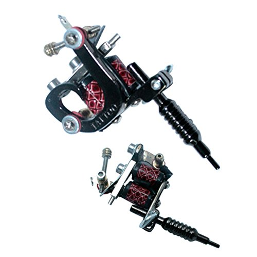 New Star Tattoo Mini Black Tattoo Machine Pendant Tattoo Necklaces Tattoo Supply (Black)