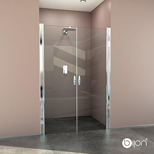 glasshop24 Hochwertige Design Duschabtrennung/Nischendusche mit Lotuseffekt | 120 x 195 cm