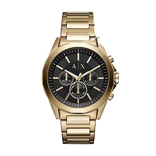 Armani Exchange Herren Chronograph Quarz Uhr mit Edelstahl Armband AX2611
