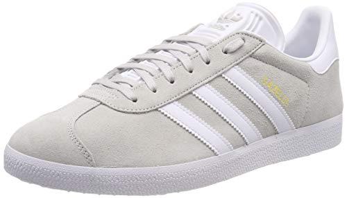 adidas Gazelle, Scarpe da Ginnastica Uomo, Grigio (Grey One F17/Ftwr White/Gold Met. Grey One F17/Ftwr White/Gold Met.), 38 EU