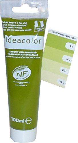 Pro G Déco Vert Frais 100ml Colorant Universel Ultra-Concentré pour Toutes Vos peintures, Vernis, lasures. Performances extrêmes.