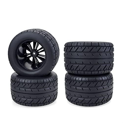 FMingNian 4pcs Monster Camion Roues pneus 115mm de pneus de Voiture Hors Route Ensemble pour 1/10 RC Voiture HPI HSP S-A-V-A-G-E XS TM Flux Racing LRP (Couleur : 4PCS)